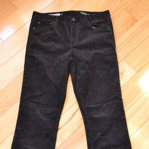 Gap 30 perfect boot corduroy pants black cords